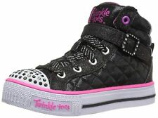 New Girl's Skechers 10573L Twinkle Toes Sweetheart Sole Light Up Shoes 3 (d9c)