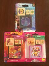 Lot Of 3 Girls Stamp Set Frozen Trolls Shopkins NEW Crafts