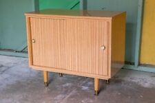 Retro Mid Century Vinyl Record Storage Cabinet Classic Vintage Furniture