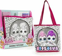 L.O.L. Surprise! LOL Dolls Colour Decorate Your Own Canvas Tote Bag Craft Set
