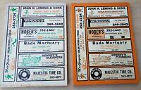 Lot of 2 Vtg Tujunga California Telephone Directory 1973-1976 Phone Book