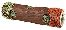 Wooden Tube Tunnel with Hay & Edible Carrot & Pea Hamsters Rabbits 30cm