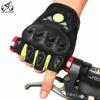 Motorcycle Gloves Half-Finger Anti-Slip Moto Downhill MTB Bike Gloves Men Women