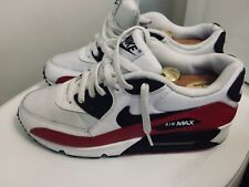 NIKE Air Max 90 Great Pair Of Red/black/white Size 10 Excellent Condition