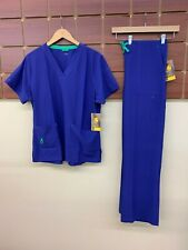 NEW Carhartt Purple Solid Scrubs Set With Large Top & Large Pants NWT