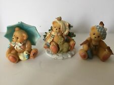 Cherished Teddies 3 Friendship Figurines Collectable