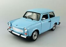WELLY TRABANT 601 BLUE 1:24 DIE CAST METAL MODEL NEW IN BOX