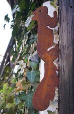 Gartendeko Rost Edelrost Deko Metall Gartenstecker Baumstecker Eichhoernchen XL
