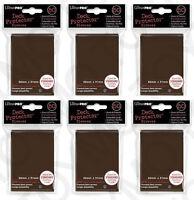 300 6pk ULTRA PRO Deck Protector Card Sleeves Magic Pokemon Standard Brown