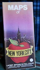 NEW YORK CITY 80's map*street maps*places of interest*pre-9-11 (Six Maps in One)