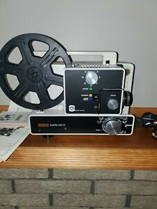Eumig Mark 610 D Vintage Reg 8mm & Super 8 Film Projector UNTESTED For Parts