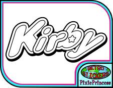 Kirby Logo Nintendo O Vinyl Sticker Poster Wall  Laptop Console Car Window Decal