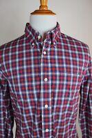 Jack Spade Oxford Collar Shirt Blue Red Plaid Size XL