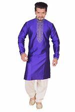 Men Blue Indian Kurta Salwar Kameez for Bollywood theme party Sherwani Luton 788