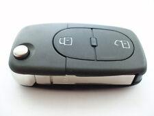 Reemplazo 2 Botón Voltear Carcasa de Llave para AUDI A3 A4 A6 A8 batería remoto-SINGLE