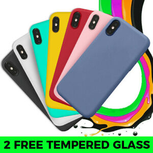 For Apple Silicone iPhone Case For SE 6 7 8 Plus X XS Max,11 Pro Max Rubber UK
