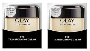 2 x Olay Total Effects 7inone 7in1 Eye Transforming Cream  (2 x 15ml)