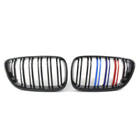 M Color Front Grille Dual Slat For BMW 2 Series F23 F22 F87 M2 2Door Gloss Black