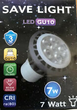 1 LED Quality GU10 Light Bulbs 7w Energy Smart 460 Lumens Cool White 35,000 Hrs