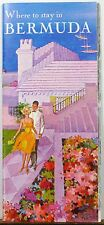 Late 1950's early 60's Bermmuda hotel and resort directory & map b