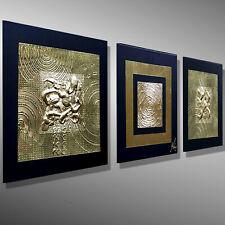 ACRYLGEMÄLDE KUNST MALEREI C. GOETHE 3D GOLD BILDER ORIGINAL ACRYLBILDER 90x30