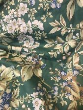 Laura Ashley Twin Bed Dust Ruffle Bramble Berry Bed Skirt Blue Green Floral