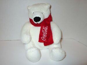 "Coca-Cola Polar Bear Stuffed Plush 2013 Dandee Collectors Choice 7"""