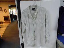 Basic Editions multicolor men's size XL button front plaid dress shirt
