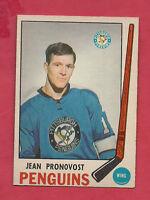 1969-70 OPC # 155 PENGUINS JEAN PRONOVOST  NRMT+ ROOKIE CARD
