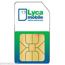 OFFICIAL LYCAMOBILE CHEAP International PAYG LYCA Sim Card - Calls From 1P