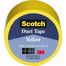 """6 Pk 3M 1.5"""" X 5 Yd Scotch Yellow Repair Decorate Duct Tape 1005-YLW-IP"""
