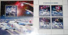 Sao Tome' & principe 2006 2724-27 blocco 533 30th Ann Concorde AEREI Airplanes