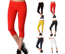Ladie's Leggings Cropped Length Short High Quality Variations Colours and Sizes!