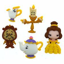 Jesse James Buttons Dress It Up - Disney- Beauty/Beast BELLE AND FRIENDS~ Crafts