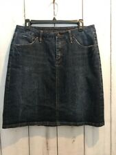 JAG JEANS Skirt Women's Size 6 Dark Blue Stretch Denim Pencil Classic Fit