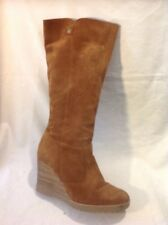 Maddison Brown Knee High Suede Boots Size 38