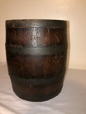 Vintage Antique Small Oak Wood Whiskey Keg Barrel Bar Decor Wooden Barrel