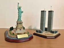 Danbury Mint Twin Towers World Trade Center And Statue Of Liberty Nyc Set