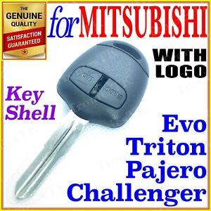 For Mitsubishi Triton Challenger Pajero Evo Remote Key Shell Case 2 Buttons