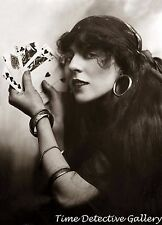 Silent Film Actress Florence Lee as a Fortune Teller -1910-Celebrity Photo Print