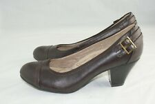 Life Stride Soft System Active Arch Women's Size 7.5 M Brown Career Mid Heels