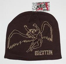 LED ZEPPELIN Hard Rock Heavy Metal Band SWAN SONG Icarus BROWN BEANIE CAP HAT