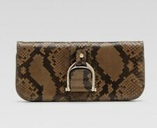 "New & Authentic GUCCI ""Greenwich"" Python Clutch"