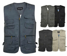 Multi Pockets Utility Vest Waistcoat Gilet Mens Fishing Hunting Shooting Poacher