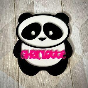 Panda Door Sign - Personalised 3D Printed - Kawaii - Cute - Door Plaque