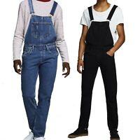 Jack & Jones Mens Denim Dungarees Overalls Work Fashion Jeans Waist Size 30-36