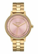 Nixon Ladies Kensington Collection Light Pink Dial / Gold 37mm Watch A099 2360