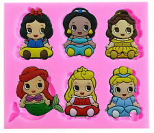 Baby Disney Princesses Silicone Mold for Fondant, Gum Paste, Chocolate, Crafts