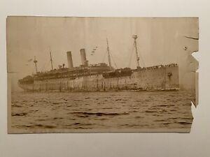E. Muller Jr. NY. - USS America - 12in x 19in Original Photograph - US Navy Ship