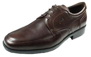 Fluchos Chaussures De Porter Homme Avec Lacets Noir Cuir Rafael